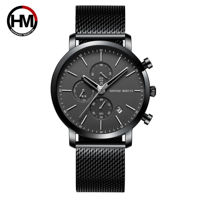 Quartz Watch For Men Watches Male Clock Date Hannah Martin Simple Ultra-thin Men Watch Casual Military reloj hombre relogioes