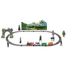 Электрический динамический паровой Радиоуправляемый трек-поезд набор имитационная модель игрушки для детей перезаряжаемый детский пульт дистанционного управления классический набор игрушек