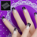 JQ 24 шт. в 1 коробка с клейкой лентой для ногтей, звездами, узорами, надавливанием, накладными наконечниками для дизайна ногтей, полным покрыти...