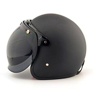 Image 3 - Viseira vintage para capacete de motocicleta, viseira retrô vintage para capacete, jato, moto, scooter, viseira bolha