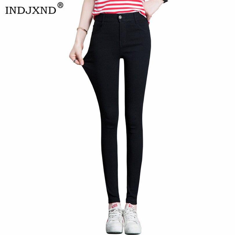 INDJXND Leggings Women Spring Pants Autumn High Elasticity Good Quality Slim Fitness Capris Streetwear Leggings Cotton Pant XXL