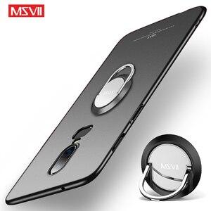 OnePlus 6 6 T 5 5 T чехол Msvii тонкий матовый чехол для One plus 5 T 6 T чехол Oneplus5 Чехол-держатель с кольцом для Oneplus6 чехол s