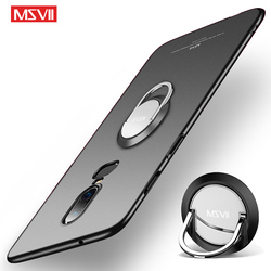 OnePlus 6 6T 5 5T Case Cover Msvii Slim Matte Coque For One plus 5 5 T 6 6 T Case Oneplus5 Ring Holder Cover For Oneplus6 Cases