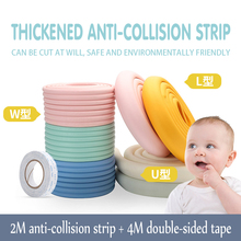 Baby protection 2M long dining table protection strip baby safety products edge furniture corner guard baby silicone  protection