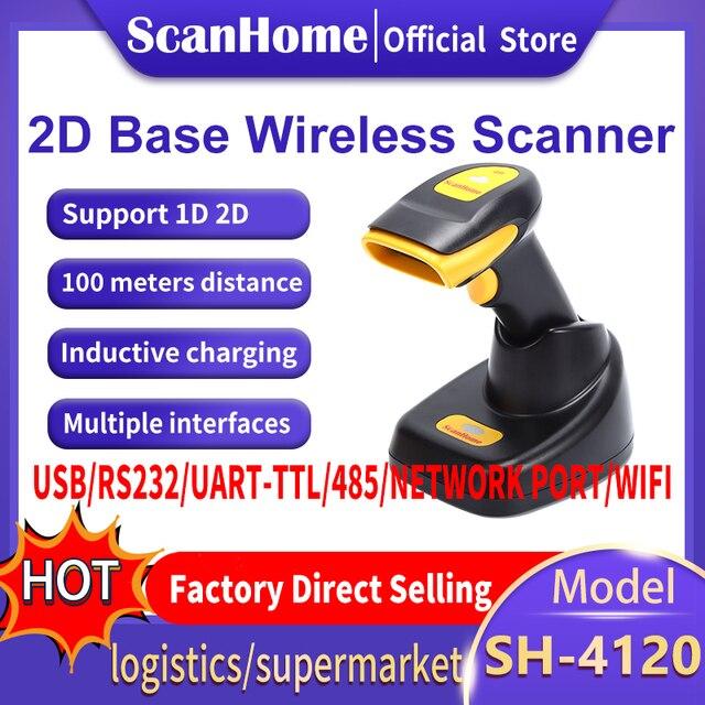 ScanHome kablosuz barkod tarayıcı 2D QR PDF417 CMOS 433MHz el BarCorde tarayıcı SH 4120