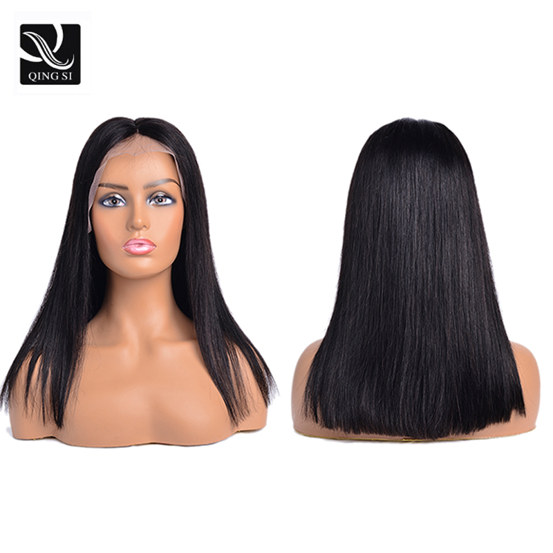 Straight Short Bob Wig Brazilian Lace Front Human Hair Wigs 13x4 Deep Part Women Remy Hair Wig Pre Plucked Baby Natural Hairline