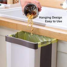 Kitchen Cupboard Back Trash Bag Rack Cabinet Door Garbage Holder Hanging kitchen Tools