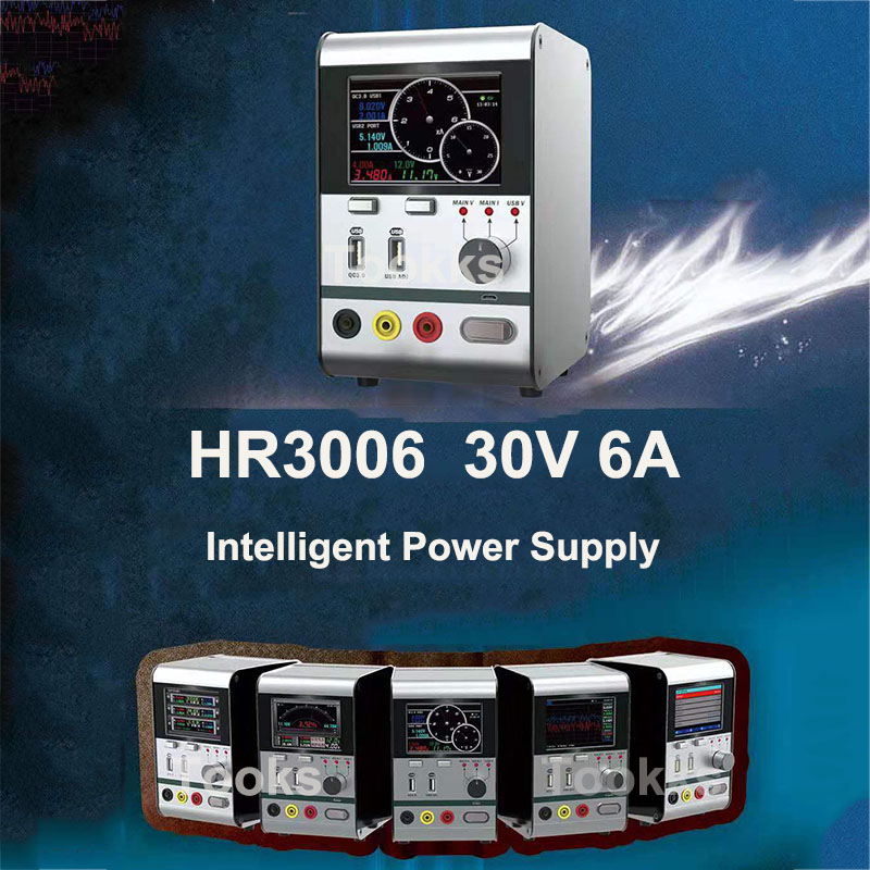 HR3006 30V 6A regulador de voltaje inteligente potencia de corriente con puerto de carga USB rápida herramienta de reparación de teléfono actualizada de HR1203