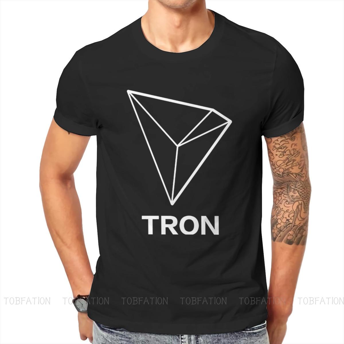 TRON TRX Essential Newest TShirts Bitcoin Male Harajuku Pure Cotton Tops T Shirt O Neck Big Size 1