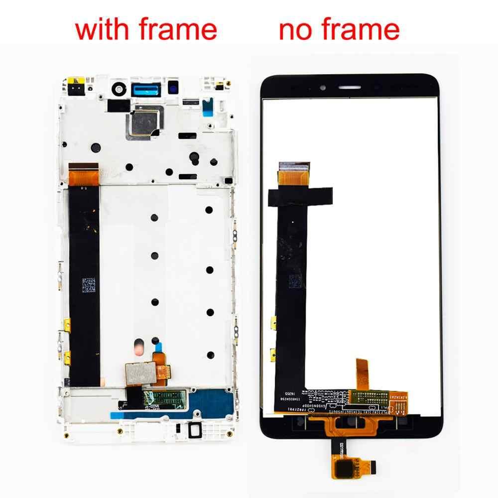 Dla Xiaomi Redmi uwaga 4 LCD ekran dotykowy wyświetlacz LCD Digitizer montażu modułu rama dla Redmi uwaga 4 Mtk Helio X20 ekran LCD
