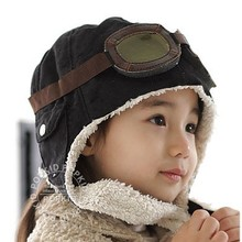 Kids Hat Pilot Beanies-Cap Warm Baby Toddlers Girls Infant Winter Boys Cute Soft Eargflap-Hat