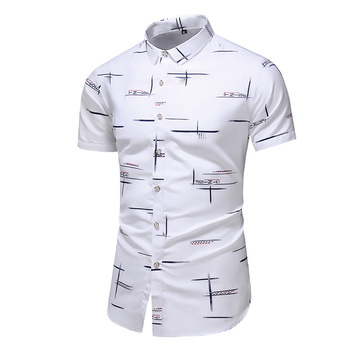Fashion 9 Style Design Short Sleeve Casual Shirt Men's Print Beach Blouse 2021 Summer Clothing Plus Asian Size M-XXXL 4XL 5XL 1