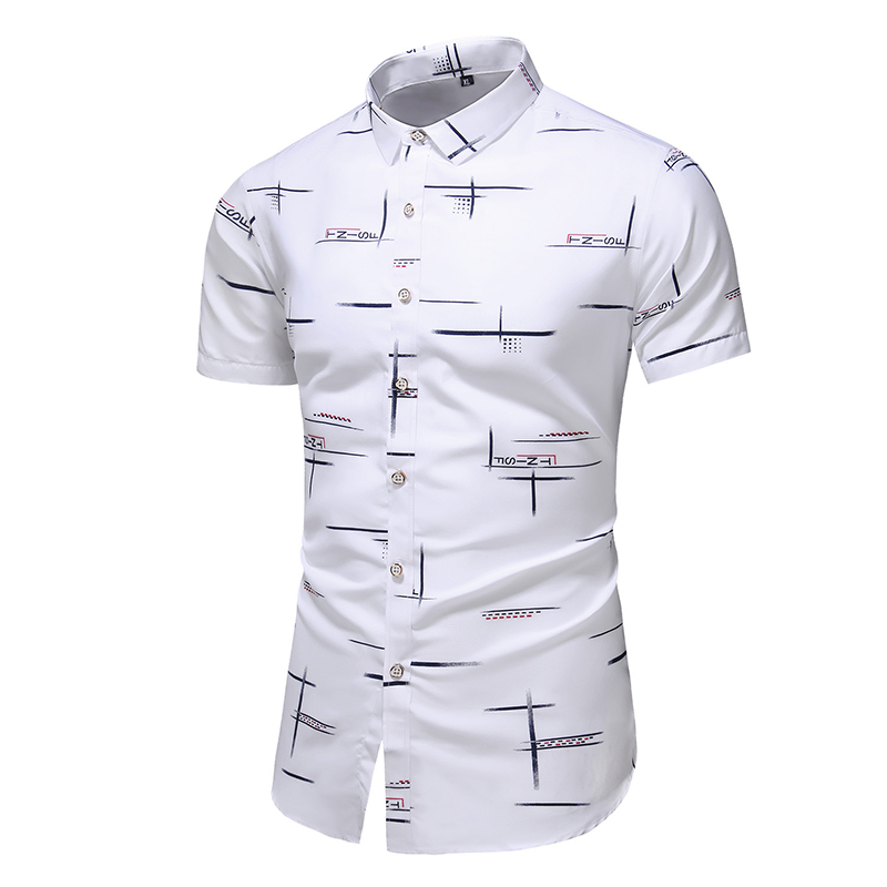 Fashion 9 Style Design Short Sleeve Casual Shirt Men's Print Beach Blouse 2020 Summer Clothing Plus Asian Size M-XXXL 4XL 5XL