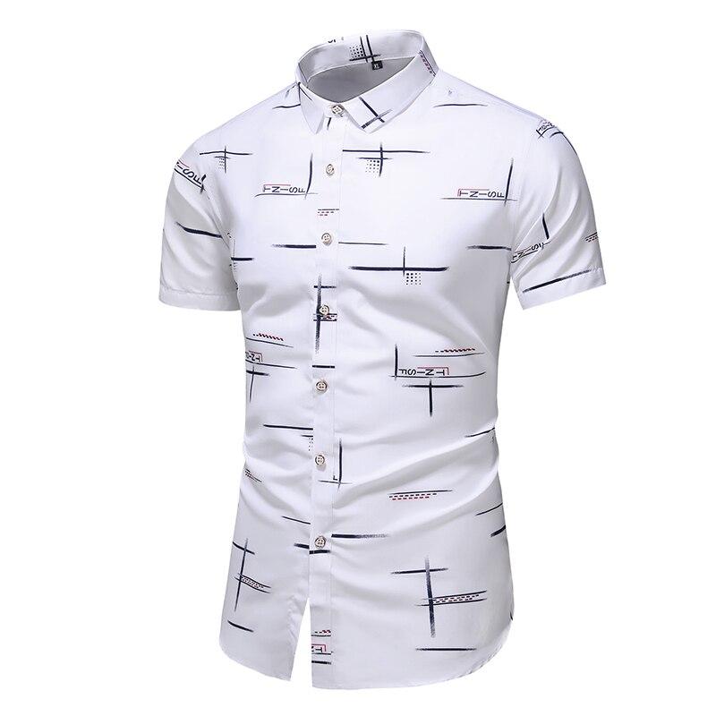 Fashion 9 Style Design Short Sleeve Casual Shirt Men's Print Beach Blouse 2021 Summer Clothing Plus Asian Size M-XXXL 4XL 5XL