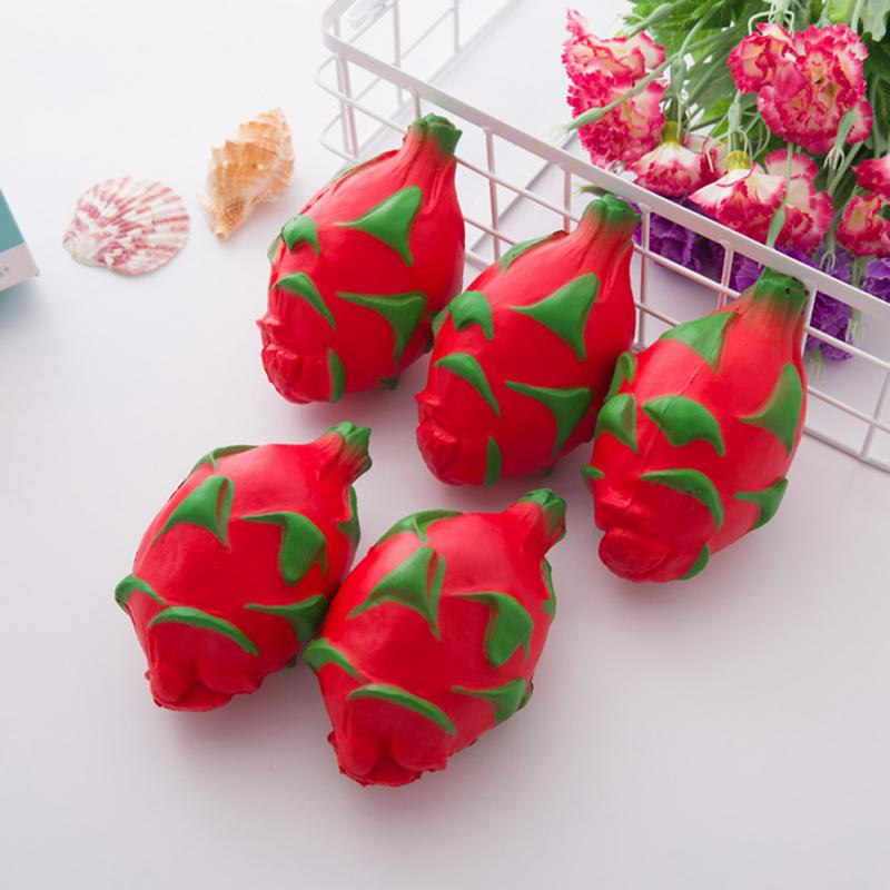 Slow Rebound Imitation Soft Dragon Fruit Relieve Stress For Children Kids Baby Halloween Chrismas Easter Carnival Gift Toys