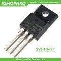 10 шт. Бесплатная доставка SVF4N65F 4N65F SVD4N65F TO-220F 650 в 4A mos полевой транзистор 100% Новый оригинальный гарантия качества - фото