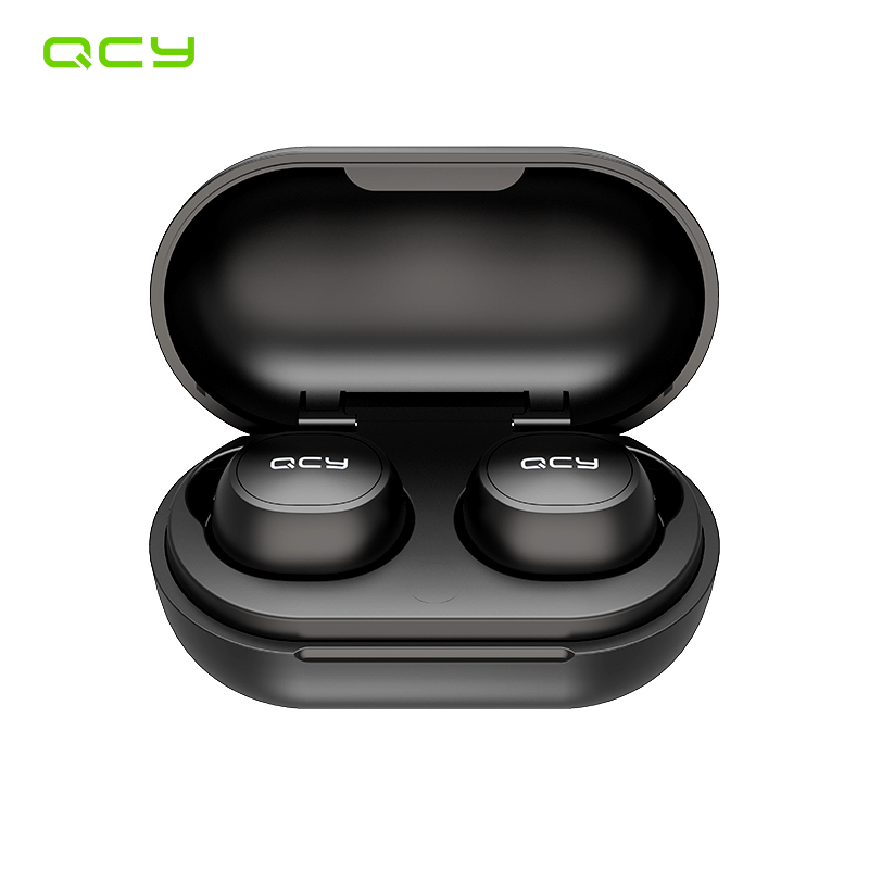 QCY T4 TWS Bluetooth V5.0 Headset Sports Wireless Earphones 3D Stereo Earbuds Mini In Ear Dual Microphone  Charging Box