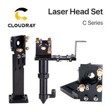 Cloudray CO2 Laser Head Set LensDia.18 FL38.1 Dia.20FL50.8/63.5/101.6mm Integrative Mount Dia25 Mirror for Laser Cutting Machine