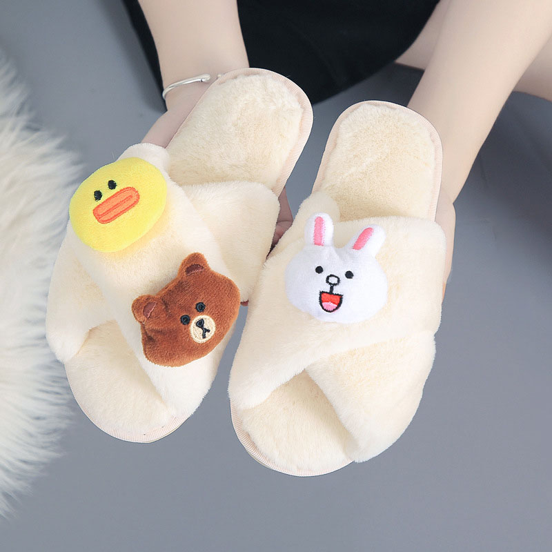 Winter Women Slippers Female Home Shoes Women Cartoon Indoor House Slippers Slip On Lovely Casual Shoes 2019 DE