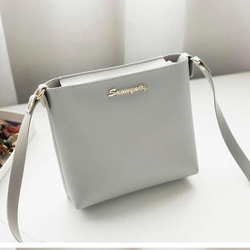 New Fashion Small Square Crossbody Bag Ladies Pu Leather Crossbody Shoulder Bag Female Retro Casual Simple Handbag