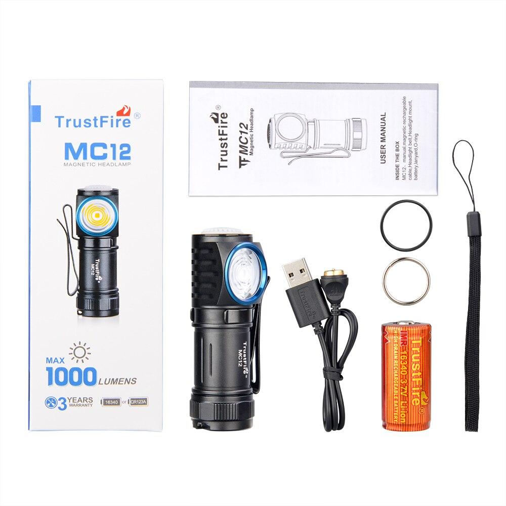 Trustfire mc12 mini lanterna, cree XP-L oi