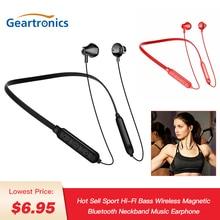 Magnetic Bluetooth Headphone Hi-Fi Bass Wireless Bluetooth Earphone Neckband Music Sport Waterproof