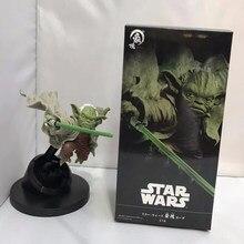 Anime Disney 15cm Maestro Yoda de Star Wars Caballero Jedi luchando versión de PVC maestro Yoda figura de acción de juguete de modelos coleccionables Gifs