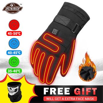 HEROBIKER rękawice motocyklowe wodoodporne podgrzewane Guantes Moto ekran dotykowy zasilany baterią wyścigi motocyklowe rękawiczki jeździeckie zima # # tanie i dobre opinie CN (pochodzenie) Z palcami Poliester i bawełna Mężczyźni Motorycele Glove Protection Guard Protective Gear Protectors