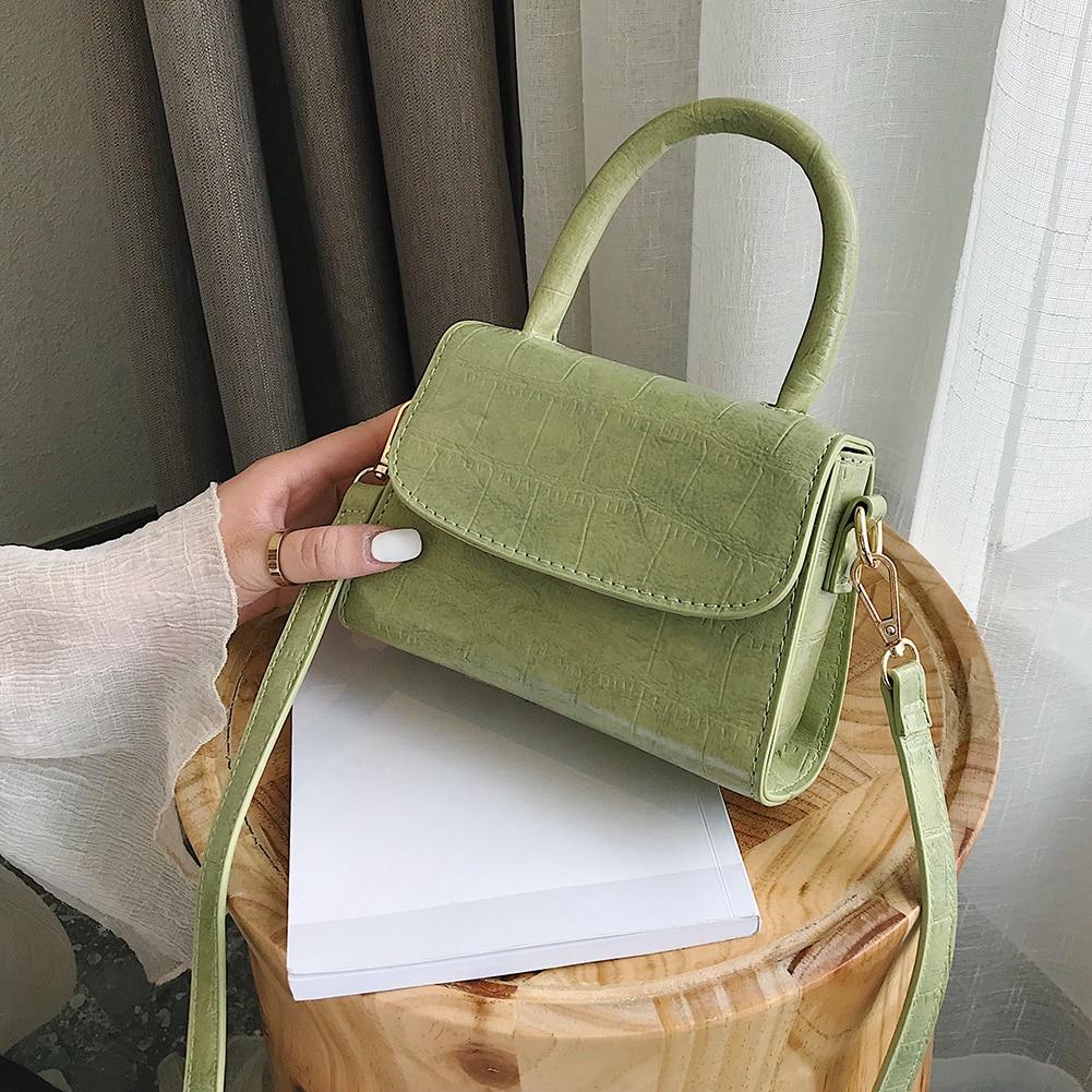 Crocodile Pattern Crossbody Bags For Women 2020 Small Chain Handbag Small Bag PU Leather Hand Bag Ladies Designer Evening Bags