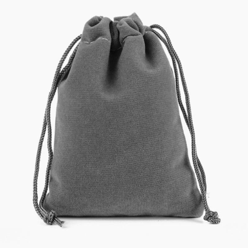 灰色绒布袋