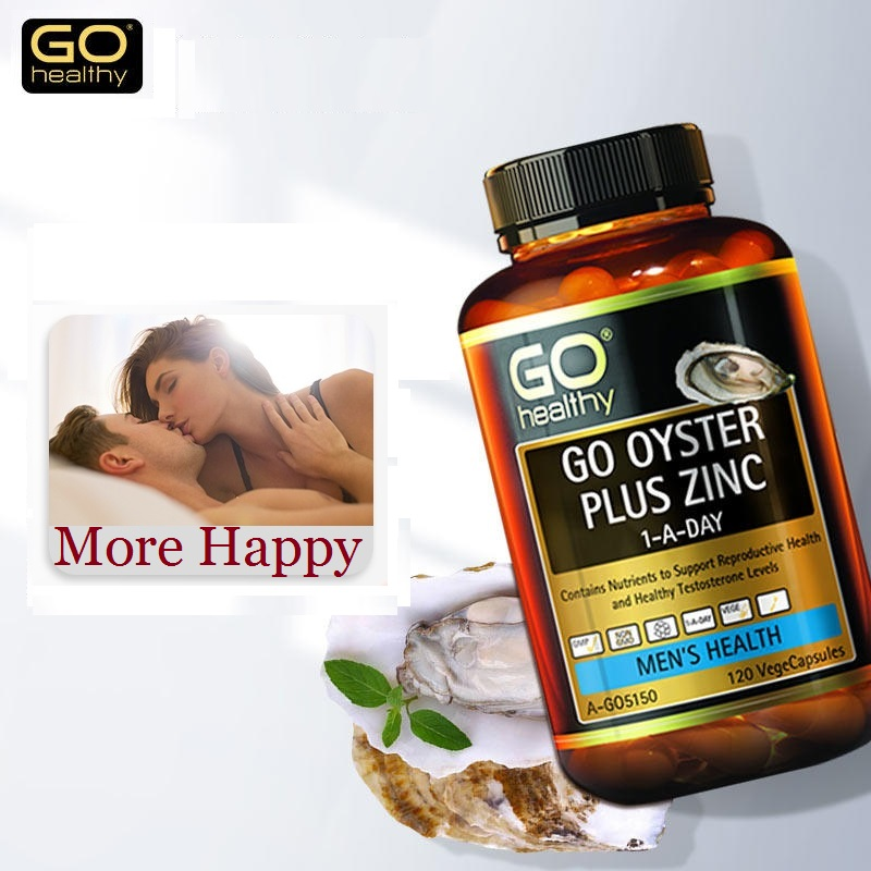 NewZealand Go Healthy Oyster Zinc Supplement 120 Capsules for Men Health Vitality Immune Support Sexual Reproductive Wellbeing 1
