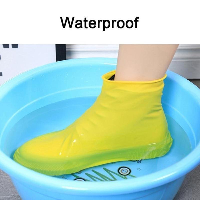 Rain Shoe Covers Waterproof Portable Traveling Outdoor Rubber Non-slip Rain Boot Overshoes Reusable Shoes Accessories Unisex