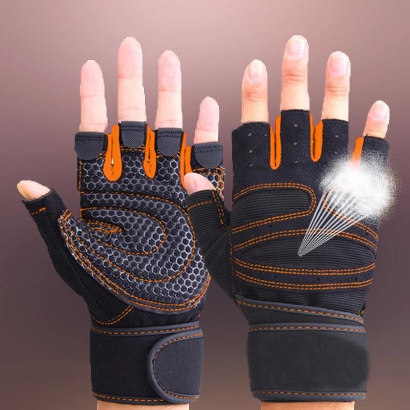 Weight Lifting Gloves Sport Fitness Gym Exercise Training Half Finger Men Women