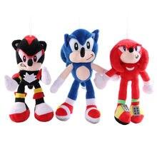 28 см плюшевый Соник игрушки кукла синяя тень мягкая игрушка