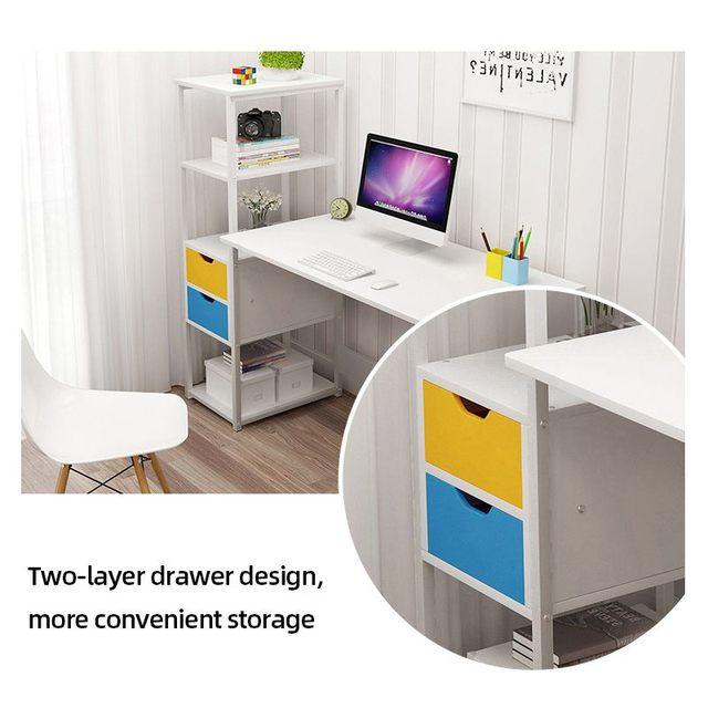 Computer Desk w/  Bookshelf Workstation 3