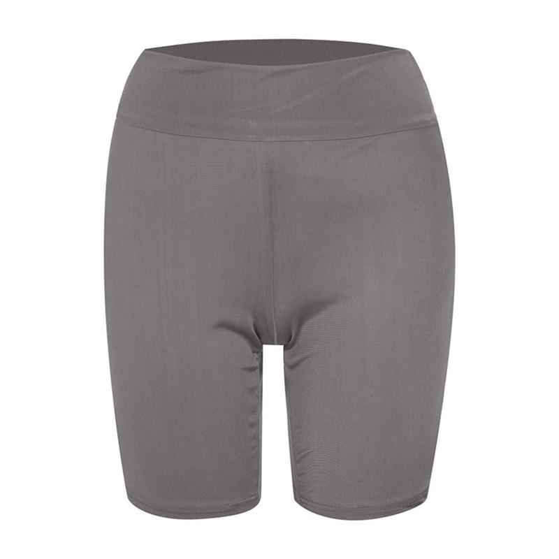 2020 New Women`s Cycling Shorts Stretch Plain Biker shorts Casual Sports Fitness Ladies Elastic Waist Leggings Slim Shorts (16)
