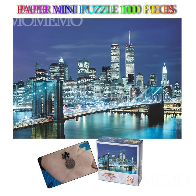 Brooklyn Bridge USA Landscape Paper Puzzle Mini 1000 Pieces Jigsaw Puzzle 2942cm Puzzle 1000 Pieces Toys For Adults Gifts