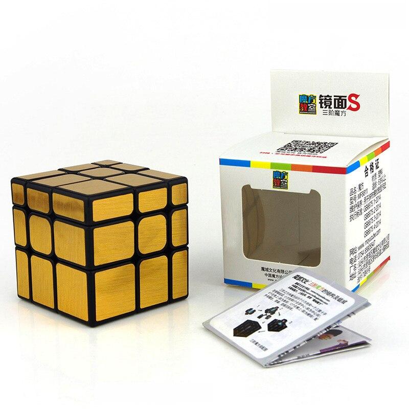 Cubo de espejo Moyu 3x3, cubo mágico 3x3x3, Cubo de velocidad, Puzzle, juguetes educativos para niños, regalos de bloques de espejo plateado/dorado Cubo mágico sin etiqueta MoYu 3x3x3 meilong, Cubo de rompecabezas, cubos de Velocidad Profesional, juguetes educativos para estudiantes