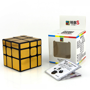 Moyu Mirror Cube 3x3 Magic 3x3x3 Speed Puzzle Educational Toys For Children Silver/Golden Blocks Gifts