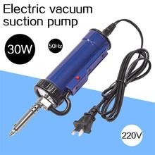 Solder Sucker Nozzle Iron-Gun Vacuum-Desoldering-Pump Electric 50hz 220V 30W with And