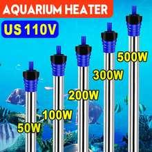 Mini chauffe-Aquarium 50W-500W température réglable chauffe-eau Submersible Thermostat automatique réservoir de poisson tige de chauffage