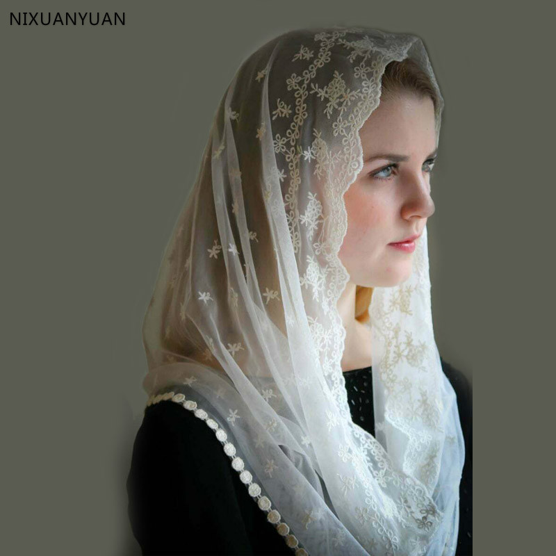 Custom Made Muslim Veils Hijab Luxury Lace Bridal Veils One Layer Handy Made Wedding Accessories Velos De Novia