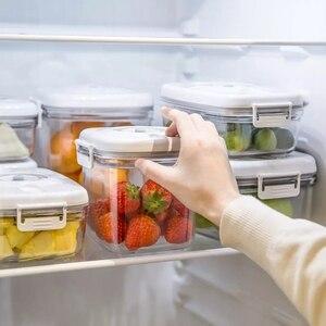 Image 3 - Youpin Vacuum Crisper przechowywanie próżniowe blokada opóźnienia świeża odporność na wilgoć smak materiał kontaktowy do żywności pojemnik Box 6 modeli