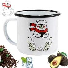 350 Ml  DIY Custom Made Enamel Coffee Mug Creative  Plant Breakfast Cup Rim with Handgrip Milk Tea Cup Free Shipping Travel Mug mug lefard 350 ml with deer
