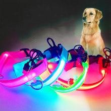 Новый usb Перезаряжаемые светодиодный ошейник для собак плюшевый