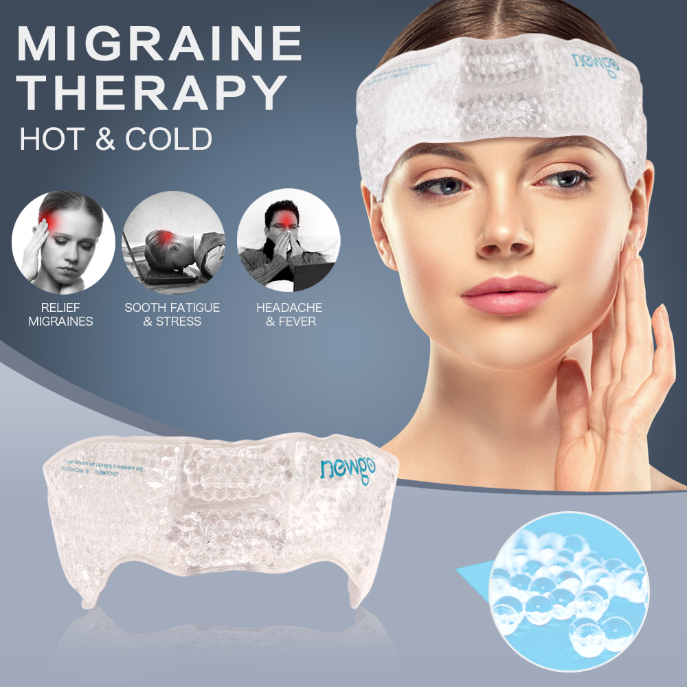 Migraine Ice Pack Head Wrap Adjustable Headache Ice Pack with Gel Bead for Pain Relief Breathable Hot Cold Pack ice bag for head(China)