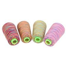 Радужная вышивка крестиком швейные нитки текстильная пряжа тканая вышивка линия смешанные цвета вышивка нить нитка шитье, моток пряжи ремесло