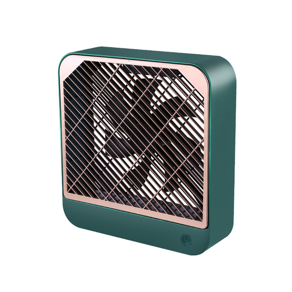 2020 Summer Desktop Square Fan Portable Mini USB Charging Noiseless Desktop Electric Fan Gift Decoration