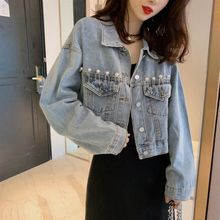 Spring And Autumn Clothing Denim Jacket Women Loose 2020 New Net Red Short Retro Jacket