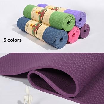 6MM Natural Rubber Yoga Mat 185*62cm TPE Material Yoga Mat Non-slip Mat Yoga acupressure Yoga Healthy Yoga Gym Mat for Fitness yoga cures